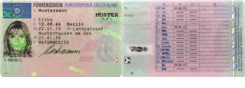 EU-Führerschein-Klassen