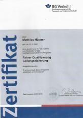 Moderator für das berufsgenossenschaftliche Programm Fahrer-Qualifizierung Ladungssicherung (FQL)