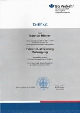 Moderator für das berufsgenossenschaftliche Programm Fahrer-Qualifizierung Entsorgung (FQE)