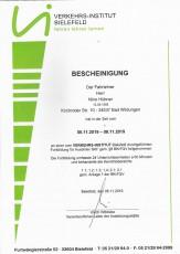 Fortbildungslehrgang für Ausbilder BKF gemäß § 8 BKrFQV - Nino Hübner