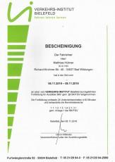 Fortbildungslehrgang für Ausbilder BKF gemäß § 8 BKrFQV - Matthias Hübner